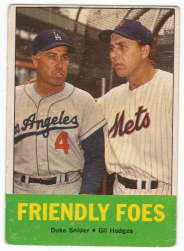 1963 Topps Duke Snider Gil Hodges Baseball Card For Sale