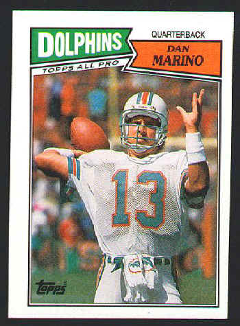 1987 Dan Marino 1990 Emmitt Smith Rookie Football Card For Sale