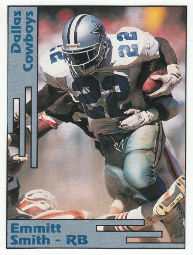 1991 1992 SCD Emmitt Smith Pocket Price Guide Card For Sale
