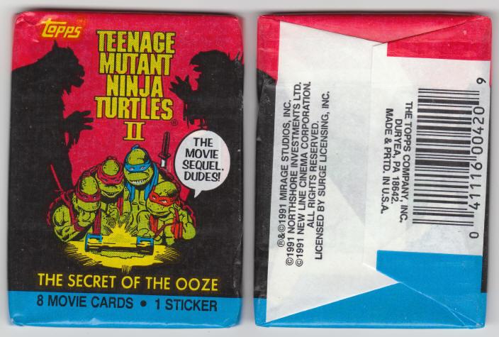 1991 Topps Teeneage Mutant Ninja Turtles Ii Wax Packs Trading